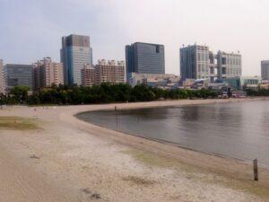 人のいないお台場海浜公園