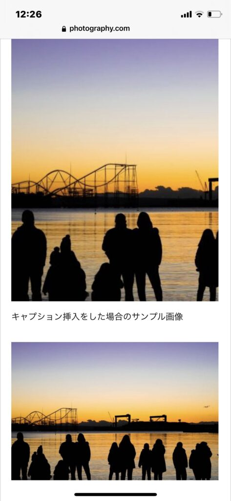 画像の自動縮小と画面切れのサンプル画像